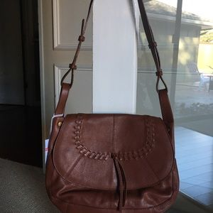 Lucky Brand brown saddlebag purse